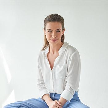 Caroline Redmond sitting